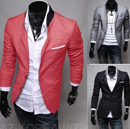 Men jacket & fashion small suit Married leisure dress