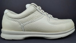 Clarks Women's 8.5 M Cream White Leather Moc Toe Casual Lace Up Oxfords NOS 1998 - $149.29 CAD