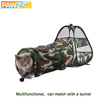 PAWZ® Cute Pet Cat Play Tunnel Cat Bed Mat Camouflage Funny Long Tunnel ... - $14.81