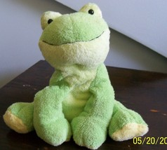 plush green frog ty pluffies LEAPERS stuffed animal 2006 super soft - $9.89