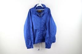 Vintage 90s Eddie Bauer Mens Size Large Full Zip Hooded Windbreaker Jack... - $44.50