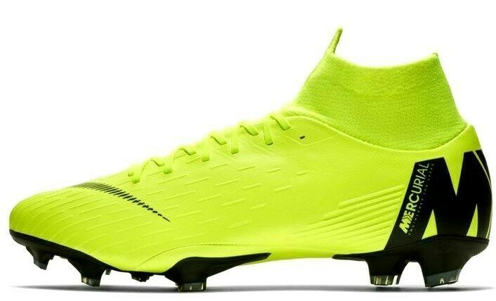 NIKE MERCURIAL SUPERFLY 6 PRO FG VOLT/BLACK SIZE 8.5 BRAND NEW (AH7368-701) image 2