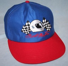 Vintage MARK MARTIN #6 Racing Blue Red Snapback HAT CAP Made In USA NASCAR - $6.92