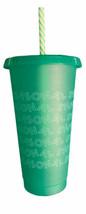 Starbucks 2019 Holiday Reusable Venti Tumbler Cold Cup Green Seasonal Shine - $12.00