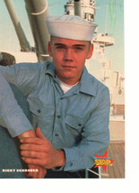 Ricky Schroder Corey Feldman teen magazine pinup clipping on a boar sailor hat