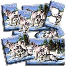 Wild Gray Wolfs Winter Forest Light Switch Outlet Wall Plate Cover Room Hd Decor - $10.99+