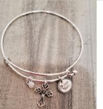 Ladies Avon Have Faith Precious Cross Charms Bracelet Inspirational Religious  - $14.84