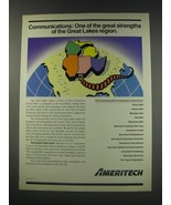 1991 Ameritech Communications Ad -  One of the great strengths  - $14.99