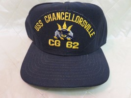 USS Chancellorsville CG-62 Hat Navy Blue Adjustable Hat Military Collect...  - 18e6a6d619f
