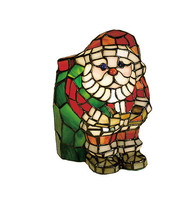 "Meyda Lighting 17241 9""H Santa Claus Tiffany Style Stained Glass Accent ... - $139.95"
