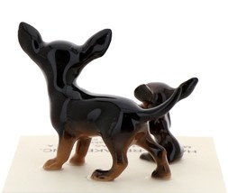 Hagen-Renaker Miniature Ceramic Dog Figurine Chihuahua Mama and Tiny Pup Black image 3