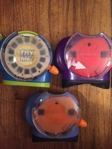 VIEW MASTER Fisher Price Blue Green Red Purple 3D Viewer with 3 Reels CH... - $18.65