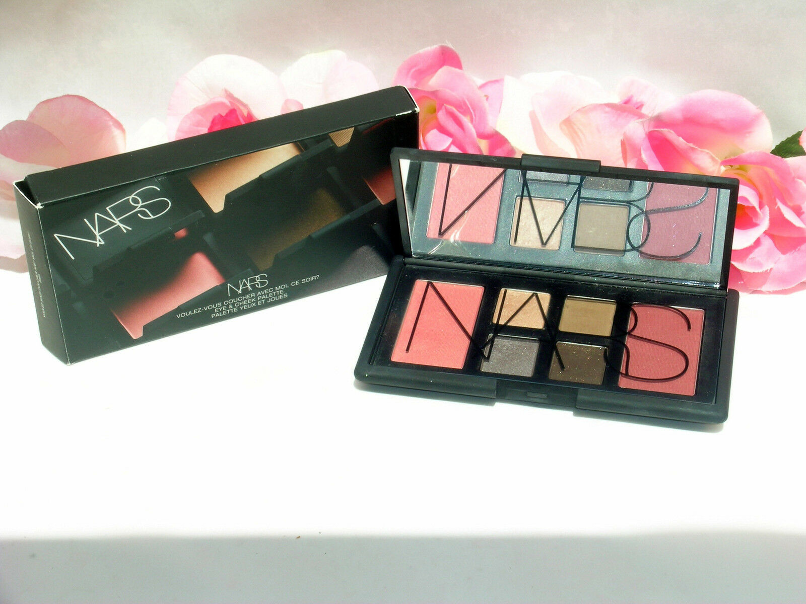 Primary image for New NARS 4 Eyeshadow & 2 Blush Eye & Cheek Palette # 9986 6 Shades Deep Throat