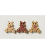 DARICE CRAFT MINIATURE Flocked Bear - Brown Flat Back - 1.5 inches - 12P... - $1.99