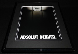 2001 Absolut Denver Vodka Framed 11x14 ORIGINAL Advertisement - $32.36