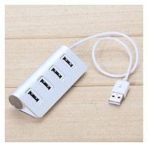 4-Port USB 2.0 Hub Aluminum Alloy Cable For PC Laptop Macbook Computer AH2