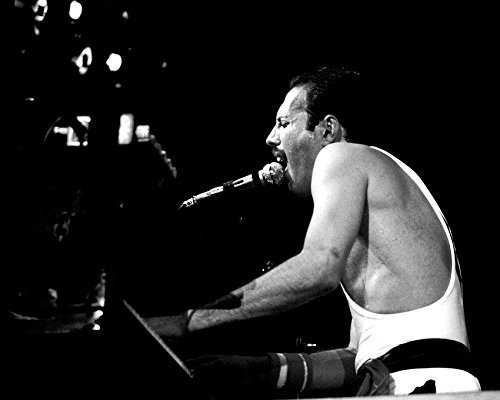 Primary image for Queen Freddie Mercury Wembley Stadium In Concert At Piano 16X20 Canvas Giclee