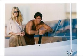 Vintage photo of Claudia Schiffer with Tim Jeffries aboard a yacht in th... - $13.04