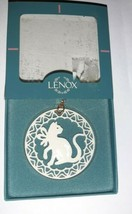 Vintage LENOX YULETIDE Series CAT KITTEN Christmas Ornament in Box  - $9.99