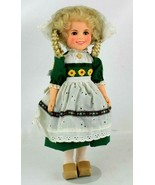 Vintage 1982 Ideal Shirley Temple Doll 12 Inch w/Metal Stand Holland Outfit - $15.96