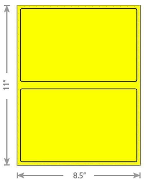6x9 ( Yellow ) Poly Mailers + Colored Half Sheet Self Adhesive Shipping Labels