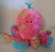 "Mary Meyer Pink Silky Octopus Plush Soft Toy 12"" Blue Stuffed - $21.73"