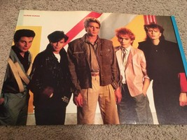 Boy George Duran Duran teen magazine poster clipping red stripes Rockline