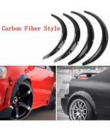 4 PCS Universal Fender Flares Carbon Fiber Style Car Auto Polyurethane F... - $124.42