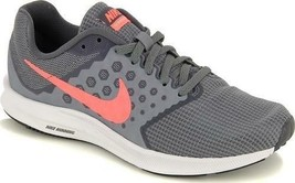 Nike Downshifter 7 Women's Running Shoes Gray+Pink Casual Athletic Sneakers - $35.00