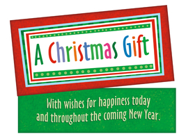 Wishes For Happiness Today ~ Christmas Holiday Gift Card or Money Holder - $5.00
