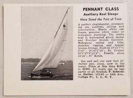 1949 Print Ad F. Schneider Auxiliary Keel Sloops Sailboats Long Island,NY - $8.89