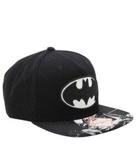 DC Comics Batman Hat Black/White Tonal Bill Snapback - $19.79