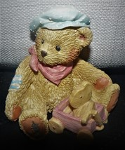 Cherished Teddies ` HARRISON We're going places BROTHER BEAR figurine 1992 - $12.62