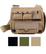 Canvas Military Shoulder Bag Messenger Pocket Army Camping Crossbody Han... - $19.99