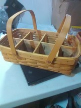 Longaberger Gathering Basket with Wood Divider and Protector - 1998 - $27.55