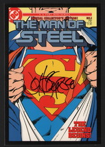 Vintage Art of DC Comics SIGNED Post Card John Byrne Superman Man of Ste... - $39.59