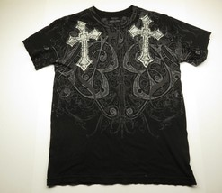 AFFLICTION Black Crosses On Front Wings Graphic on Back Adult Size Medium - $32.62