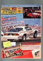 NATIONAL DRAGSTER-NHRA-VG-11/02/90-CHIEF AUTO PARTS NATIOANALS-CONWAY VG - $31.04