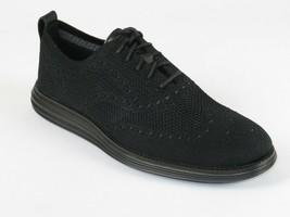 Mens Cole Haan Riginalgrand Comfort Shoes Lace Up Cloth C28443 Black Wingtip New - $139.95