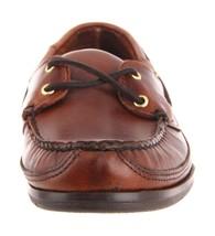 Total 9 FGL Sebago Brushed Brown UK Boat Shoes Mens Schooner E68Yq