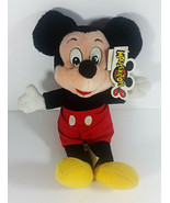 Vintage Mickey Mouse Plush 10in Disney Parks Stuffed Animal Tags Mouseke... - $9.99