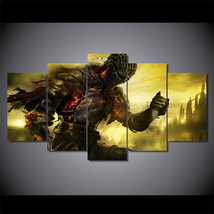 5 Pcs Dark Souls Game Home Decor Wall Picture Printed Canvas Painting - $45.99+