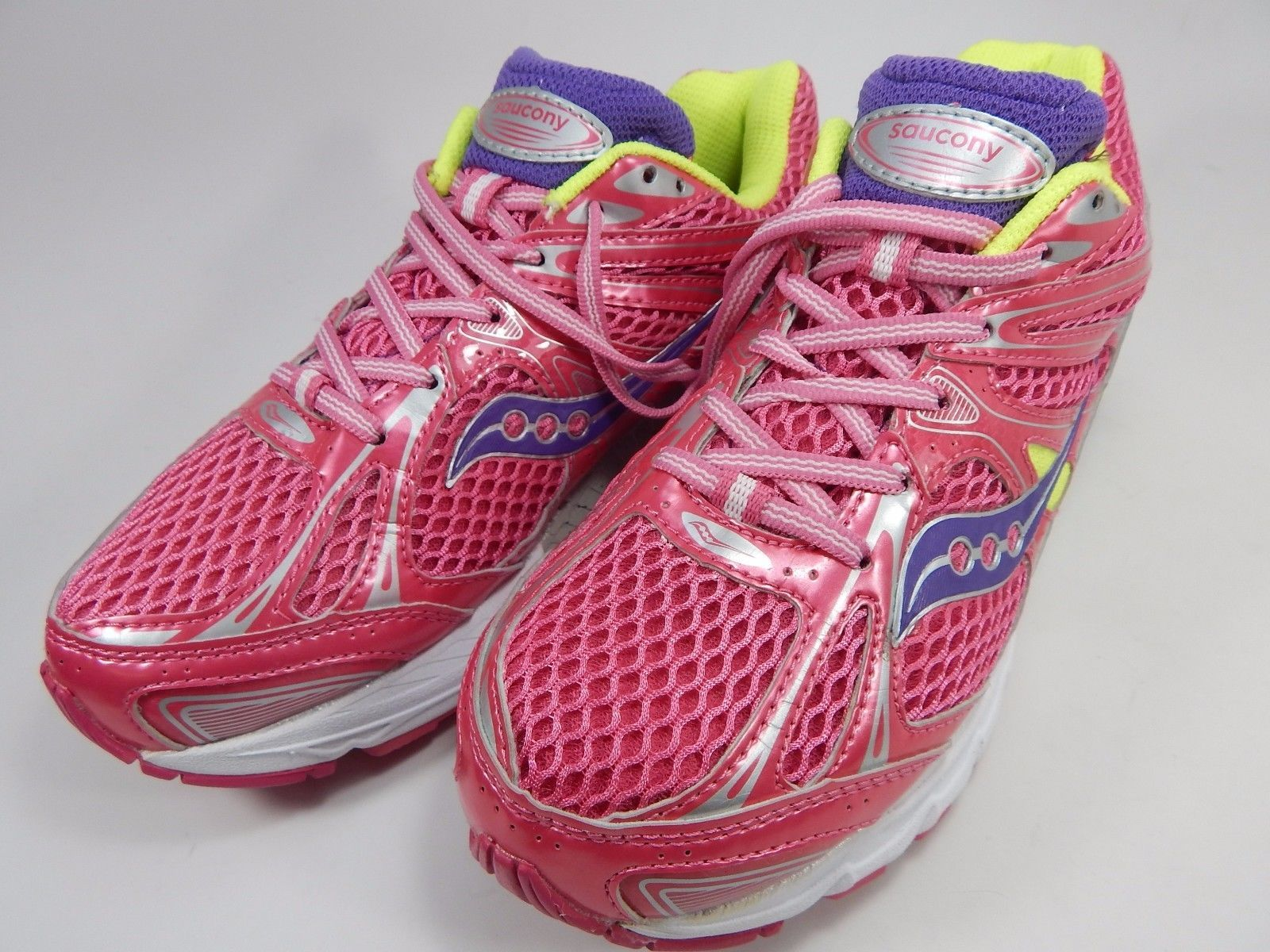 Saucony Guide 6 Girl's Youth Shoes Size US 5 M (B)  (5 Y) EU 37.5 Pink 80100-4
