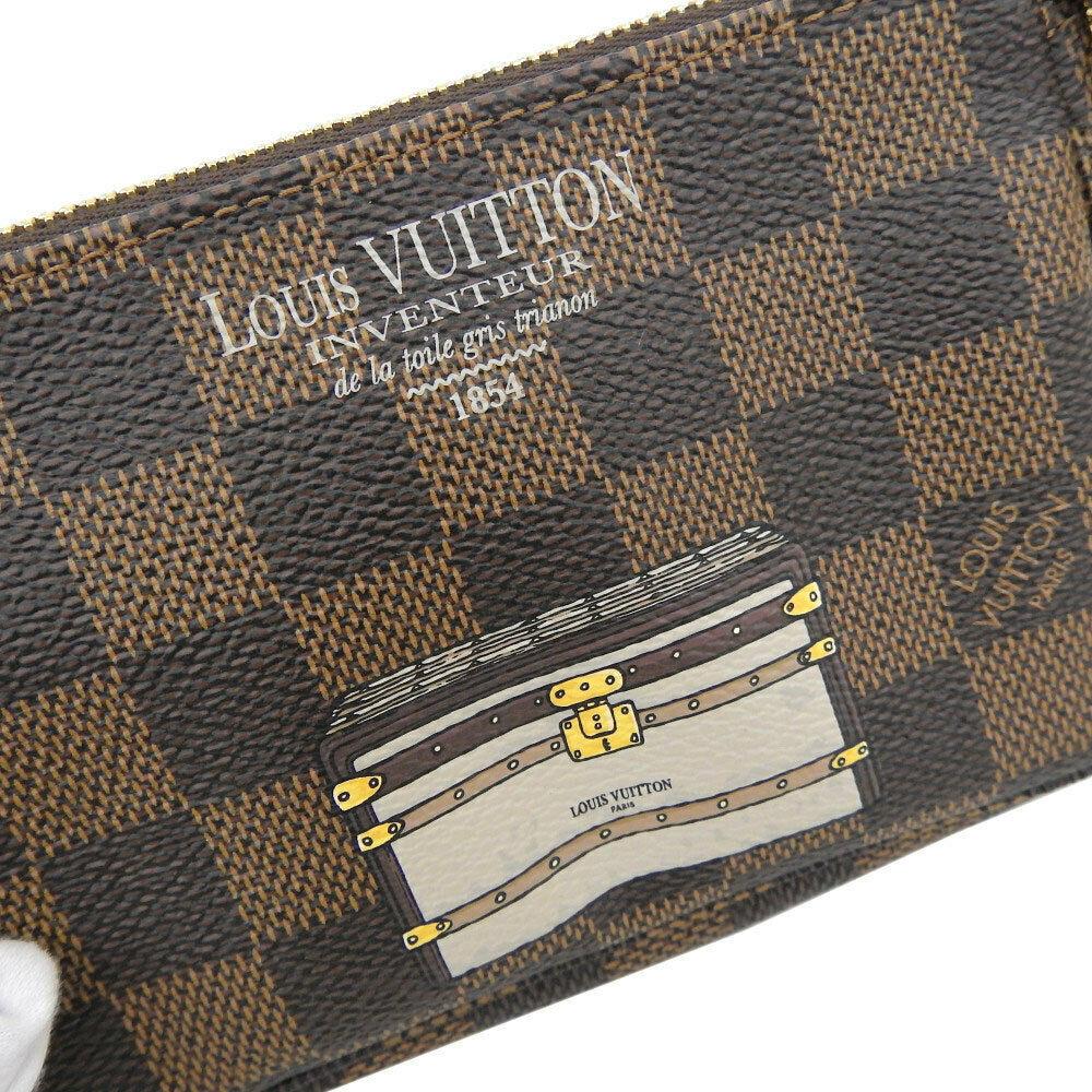 Auth Louis Vuitton Damier trunk Pochette access Soir pouch N63181