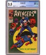 Avengers #56 1968 Marvel Bucky and Zemo appearance CGC 3.5 - $50.00