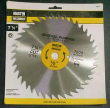 "Master Mechanic Steel Circular Saw Blade, 7-1/4"", 40 Teeth, 5/8"" Bore/Arbor - $10.93"