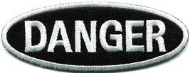 Danger sign signal warning caution alert applique iron-on badge patch ne... - $2.95