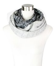 Le Nom Two Tone Soft Knit Infinity Scarf (Black) - $12.86
