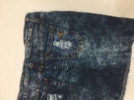 Vip Jeans Acid Wash Skirt Above Knee Regular Fit   Blue Cotton Size 11/12 image 6