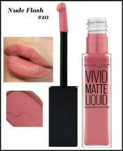 LOT 2 Maybelline Color Sensational Vivid Matte Liquid Lipstick  NUDE FLA... - $11.75